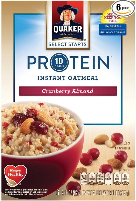 Quaker Instant Oatmeal, Select Starts, Protein, Cranberry Almond, Breakfast CerealNo ratings yet.